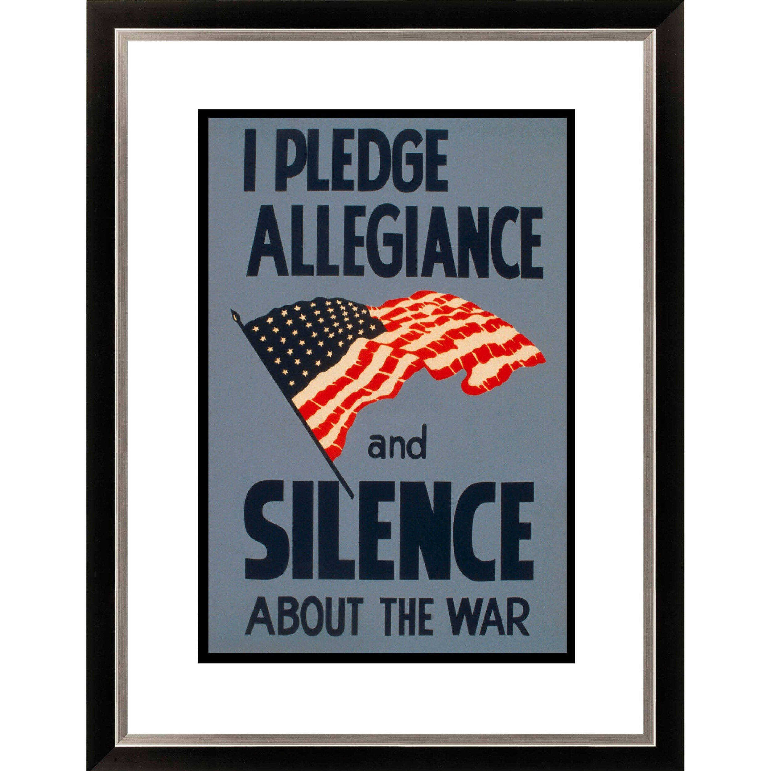 Gallery Direct I Pledge Allegiance and Silence About the War Framed Limited Edition Giclee Art