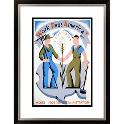 Gallery Direct 'Work Pays America!' Framed Limited Edition Giclee