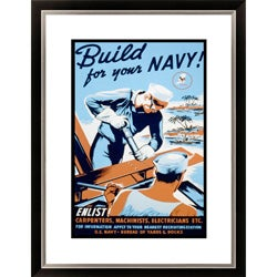 Gallery Direct 'Build for your Navy! Enlist!' Framed Limited Edition Giclee