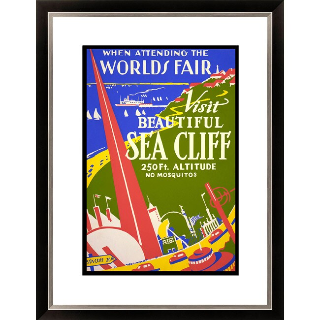 Gallery Direct 'When Attending the Worlds Fair Visit Beautiful Sea Cliff' Framed Limited Edition Giclee