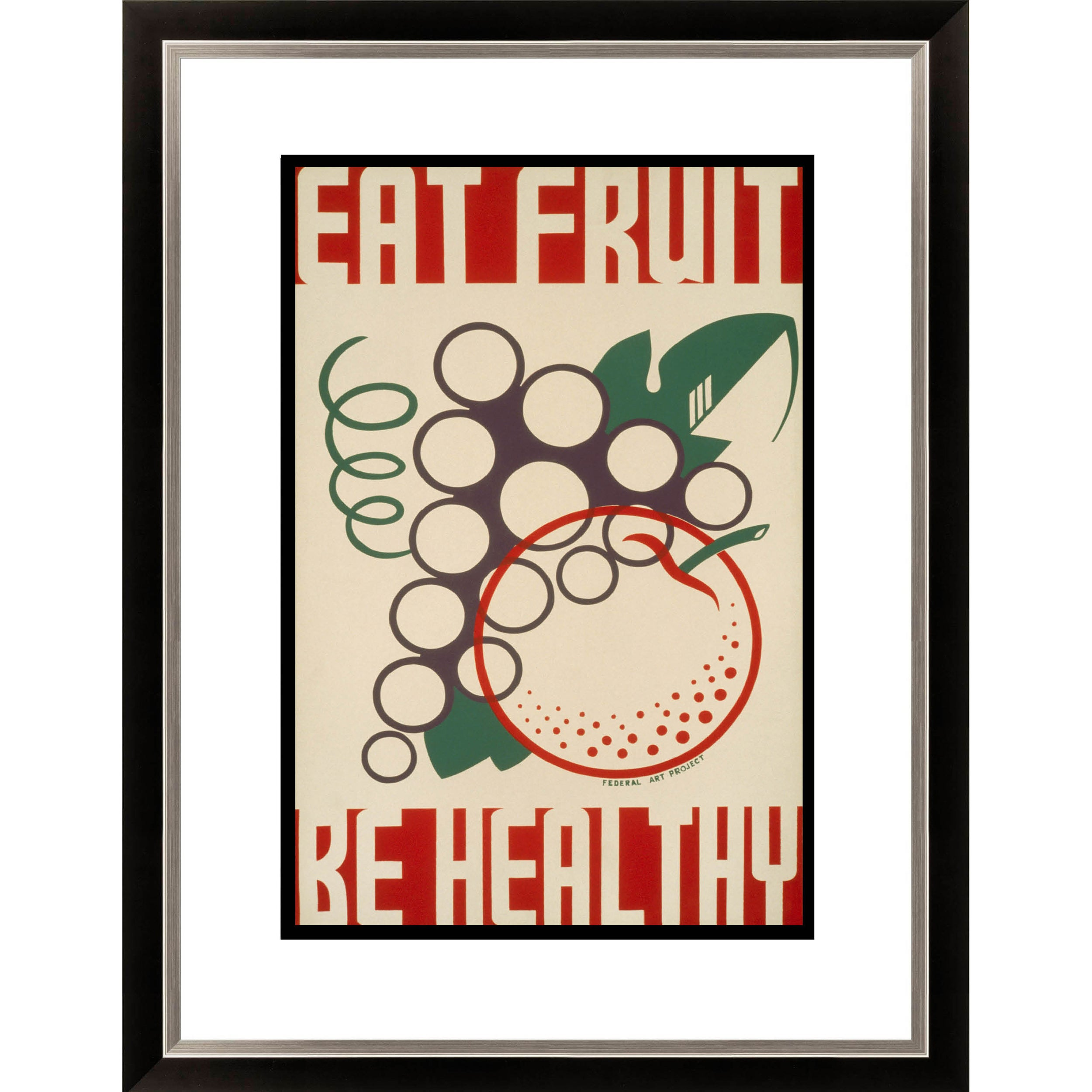 Gallery Direct 'Eat Fruit- Be Healthy' Framed Limited Edition Giclee