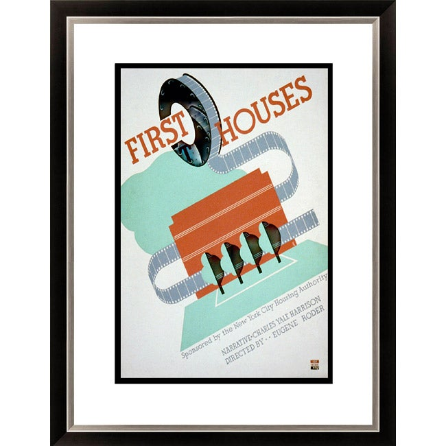 Gallery Direct 'First Houses Narrative Charles Yale Harrison' Framed Limited Editon Giclee