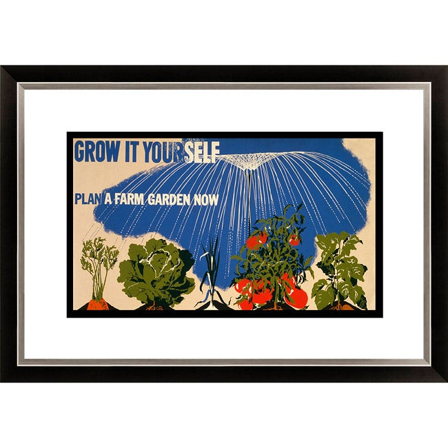 Gallery Direct 'Grow it Yourself Plan a Farm Garden Now' Framed Limited Edition Giclee