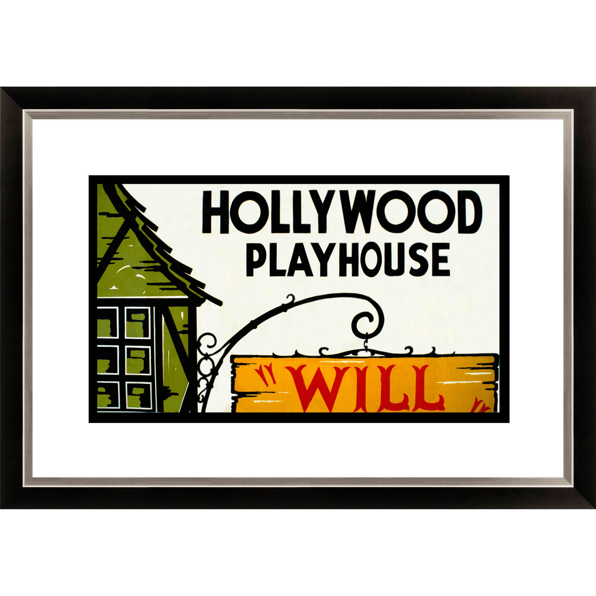 Gallery Direct 'Hollywood Playhouse 'Will Shakespeare' Framed Limited Edition Giclee