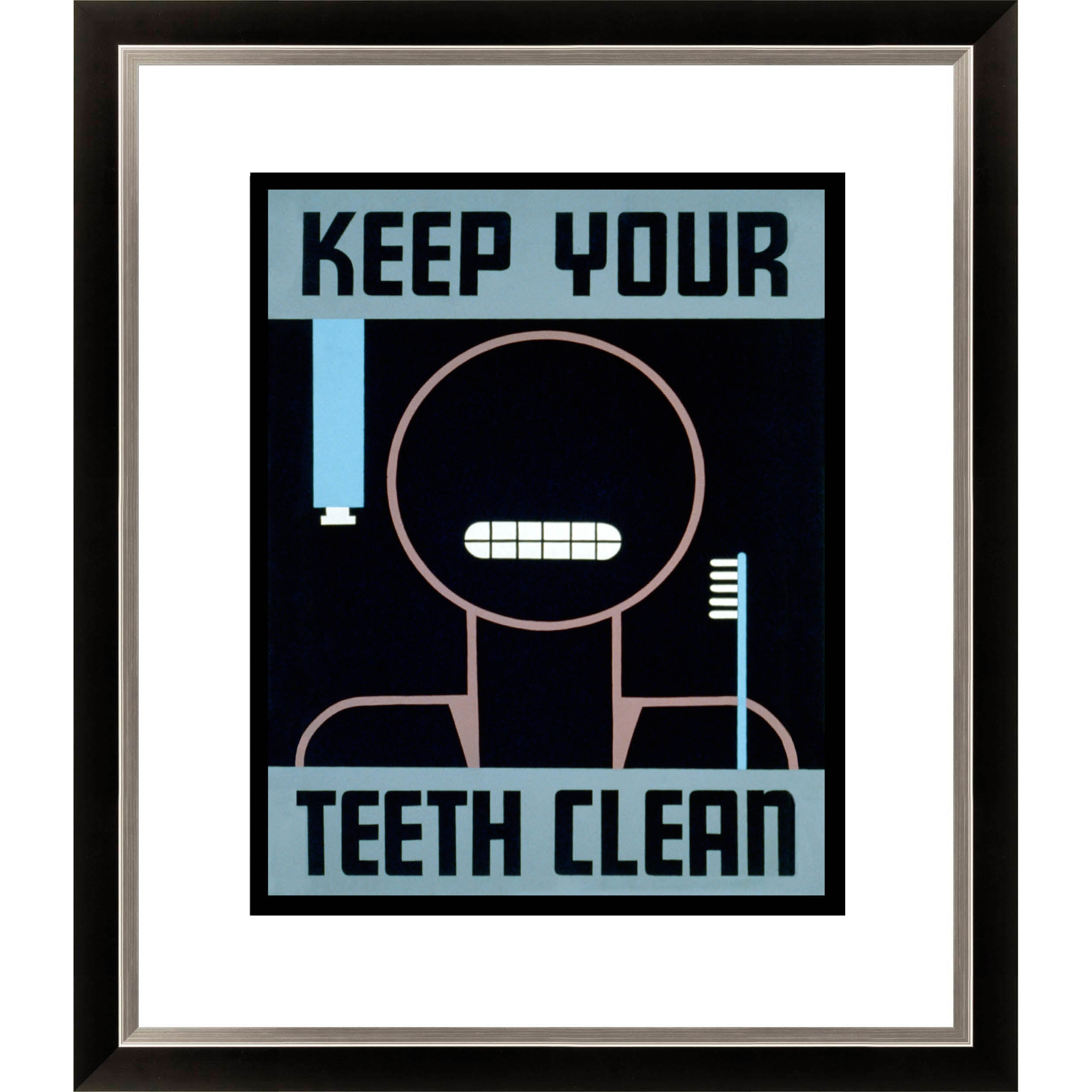 Gallery Direct 'Keep Your Teeth Clean' Framed Limited Edition Giclee