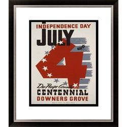Gallery Direct 'July 4--Independence Day' Framed Limited Edition Giclee