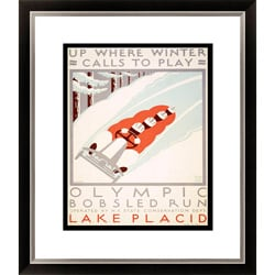 Gallery Direct 'Up Where Winter Calls to Play' Framed Limited Edition Giclee