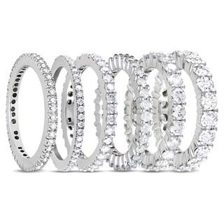 Miadora 14k White Gold 1/3ct to 3ct TDW Diamond Eternity Ring
