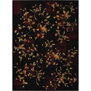 Nourison Chambord Black Floral Rug (2'3 x 3'9)