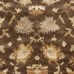 Safavieh Handmade Zeigler Brown/ Ivory Hand-spun Wool Rug (9' x 12')