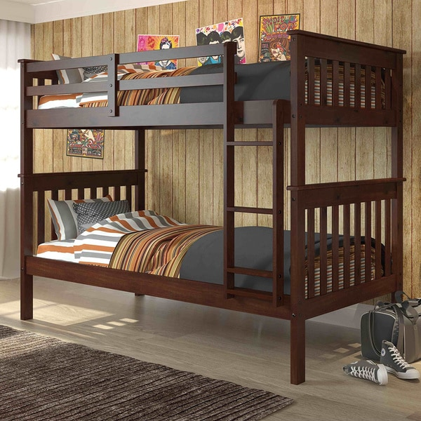 Donco Kids Mission Twin Bunk Bed