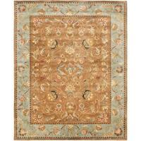 Safavieh Handmade Eden Brown/ Blue Hand-spun Wool Rug - 9' x 12'