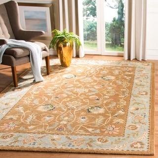 Link to Safavieh Handmade Bergama Tiney Oriental Hand-spun Wool Rug Similar Items in Transitional Rugs
