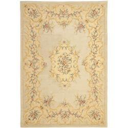 Safavieh Handmade Light Green/ Beige Hand-spun Wool Rug - 8' x 10' - Thumbnail 0