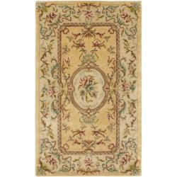 Safavieh Handmade Light Gold/ Beige Hand-spun Wool Rug - 4' x 6'
