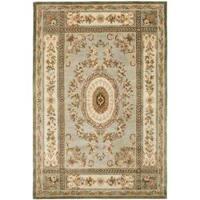 Safavieh Handmade Oasis Light Blue/ Ivory Hand-spun Wool Rug - 8' x 10'