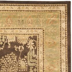 Safavieh Handmade Tree Brown/ Light Green Hand-spun Wool Rug (9' x 12') - Thumbnail 1