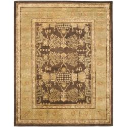 Safavieh Handmade Tree Brown/ Light Green Hand-spun Wool Rug (9' x 12') - Thumbnail 0