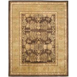 Safavieh Handmade Tree Brown/ Light Green Hand-spun Wool Rug - 9' x 12' - Thumbnail 0