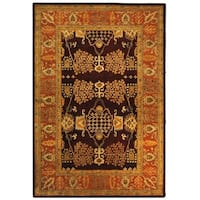 "Safavieh Handmade Tree of Life Dark Red/ Rust Hand-spun Wool Rug - 9'-6"" x 13'-6"""