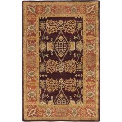Safavieh Handmade Tree of Life Dark Red/ Rust Hand-spun Wool Rug (6' x 9')