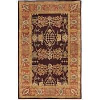 Safavieh Handmade Tree of Life Dark Red/ Rust Hand-spun Wool Rug (6' x 9') - 6' x 9'