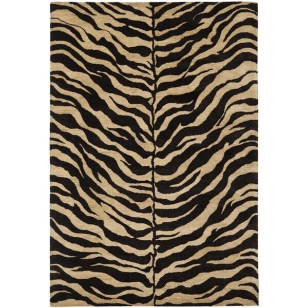 Safavieh Handmade Zebra Beige Hand-spun Wool Rug - 9'6 x 13'6