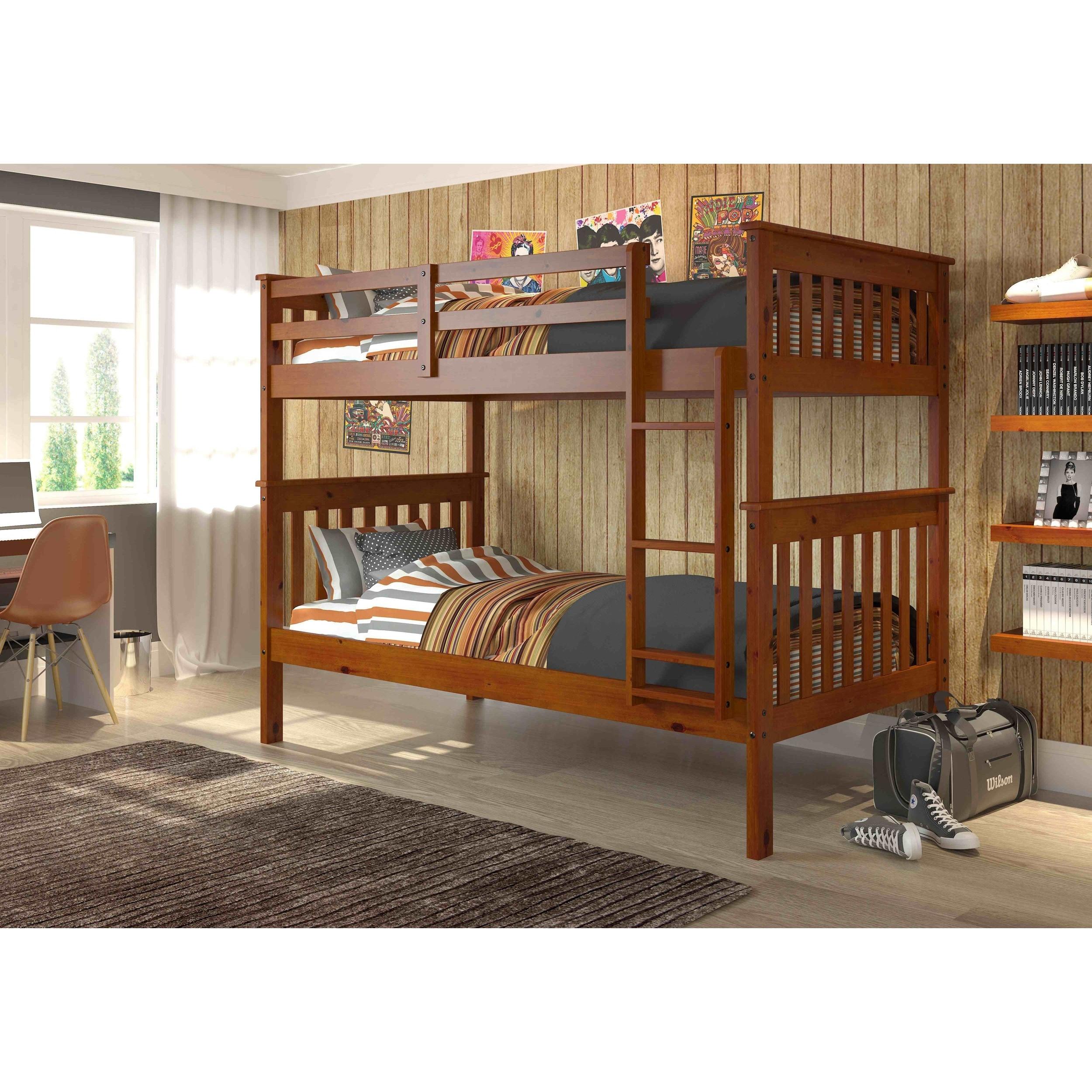 Donco Kids Twin/ Twin Espresso Finish Mission Bunk Bed (E...