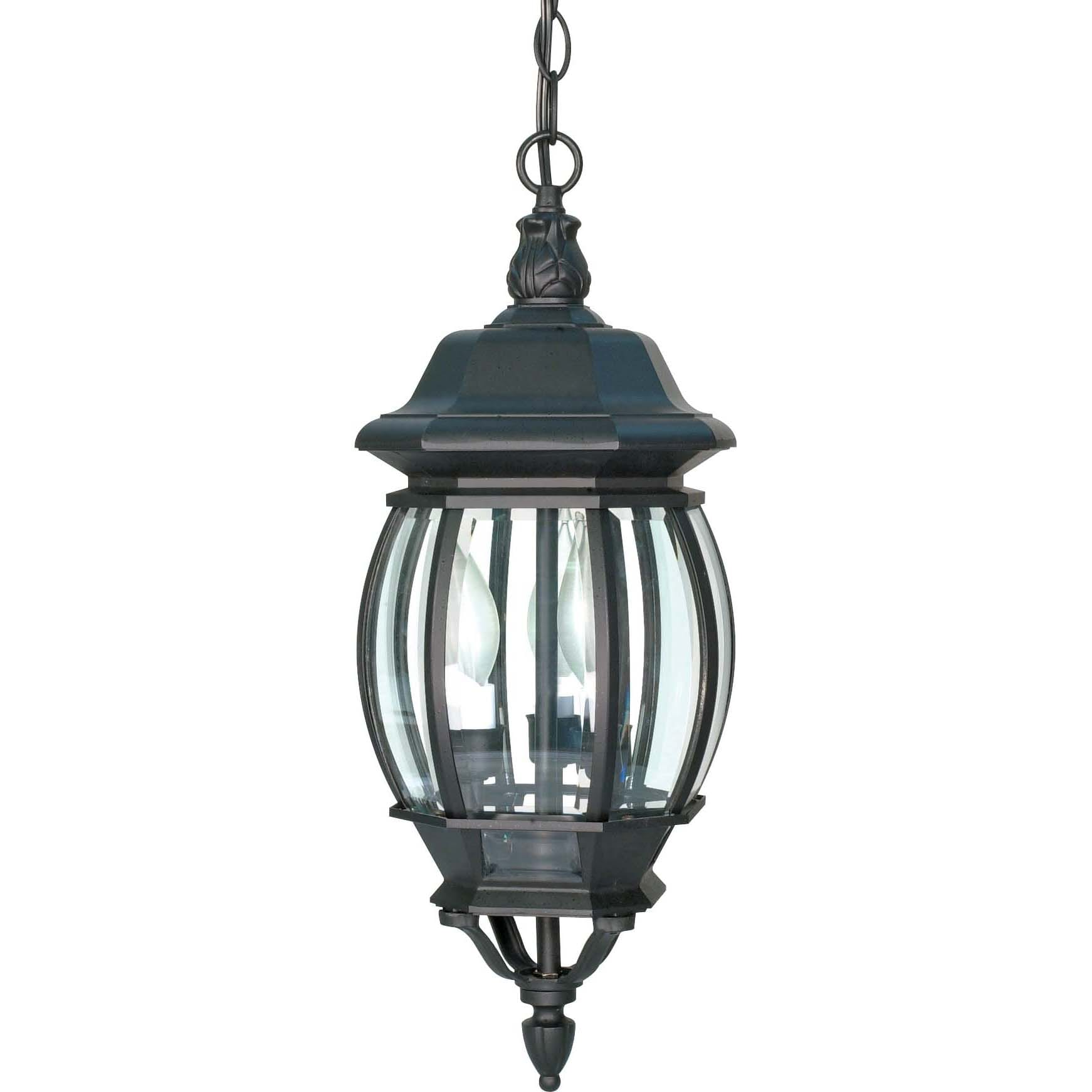 NUVO Lighting Central Park 3 Light Textured Black With Cl...