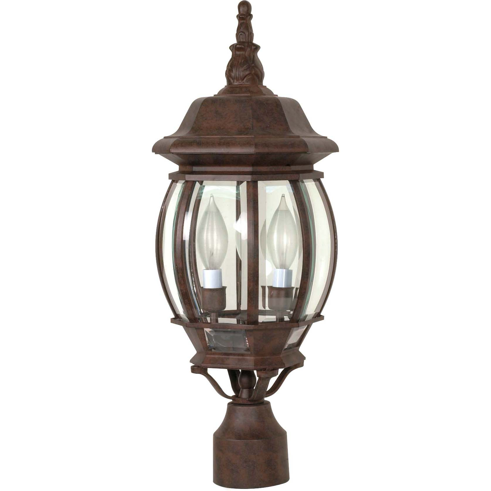 NUVO Lighting Central Park 3 Light Old Bronze With Clear ...