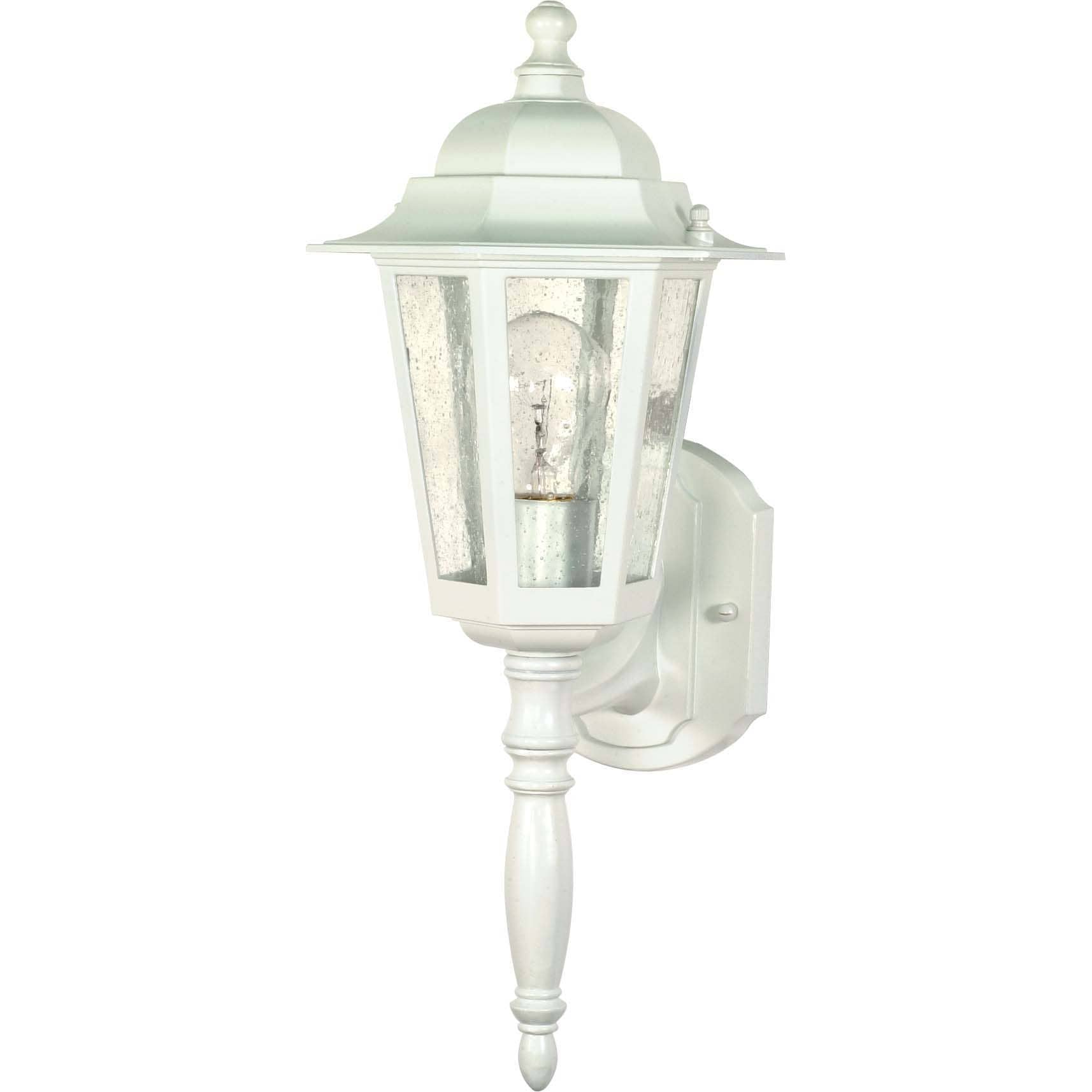 Cornerstone One-Light 60-Watt White With Clear Seed Wall Lantern