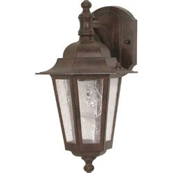 Cornerstone 1 Light Old Bronze With Clear Seed Wall Lantern