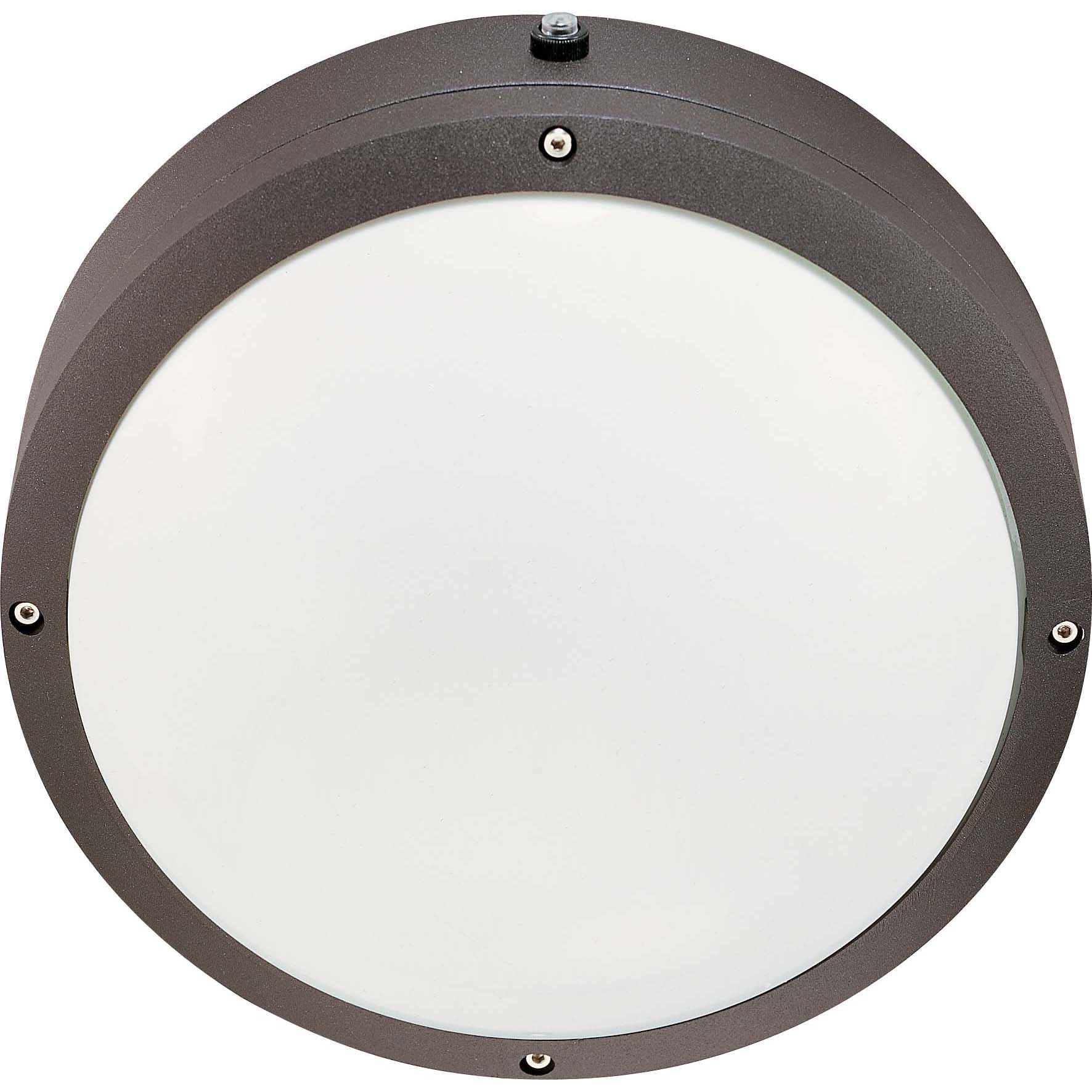Hudson 2 Light Architectural Bronze With White Lexan Round Wall / Ceiling Fixture