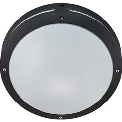 Hudson 2 Light Matte Black With White Lexan Round Wall/Ceiling Fixture