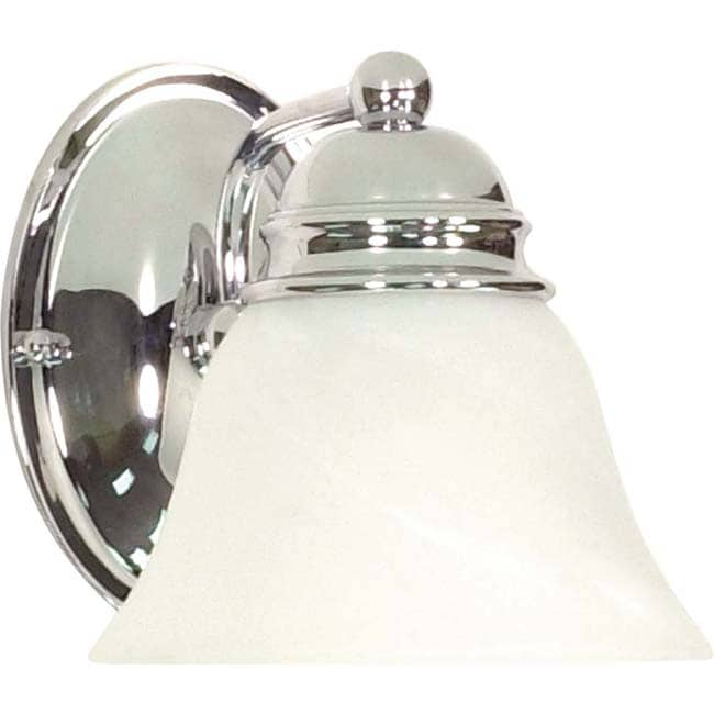 Empire 1 Light Polished Chrome With Alabaster Vanity