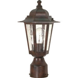 Cornerstone 1 Light Old Bronze w/ Clear Seed Post Lantern