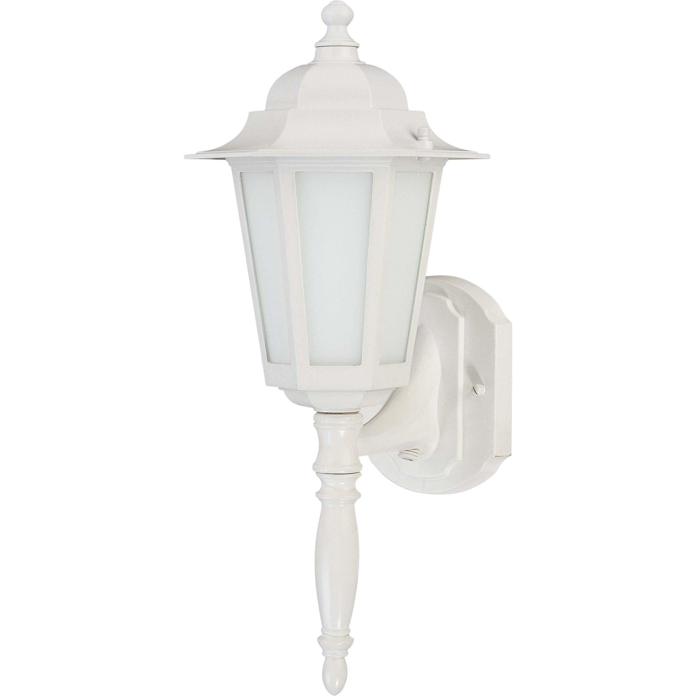 Cornerstone 1 Light White With Satin White Glass Wall Lantern