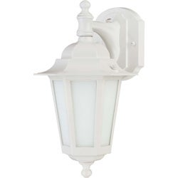 Cornerstone White with Satin White Glass 1-light Wall Lantern