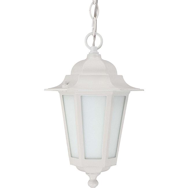 NUVO Lighting Cornerstone White with Satin White Glass 1-...