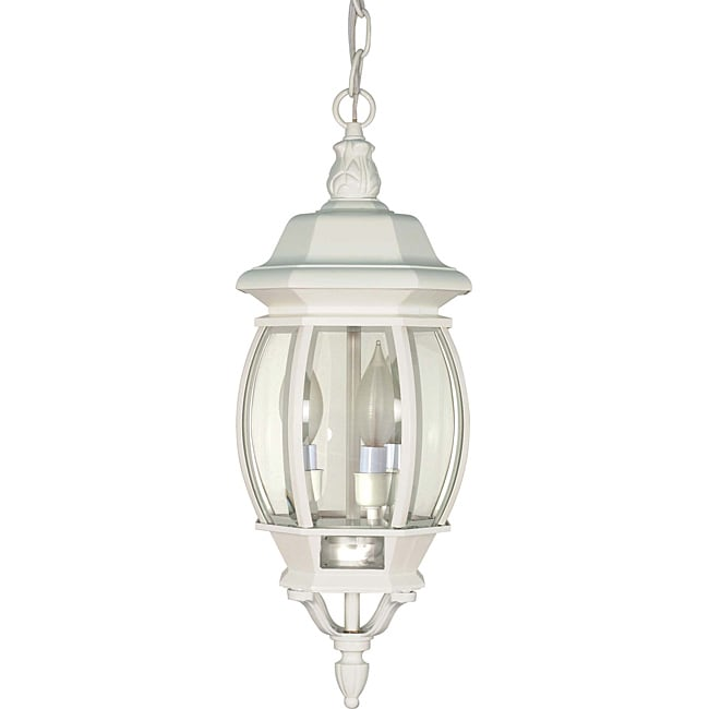 NUVO Lighting Central Park White with Clear Beveled Panel...
