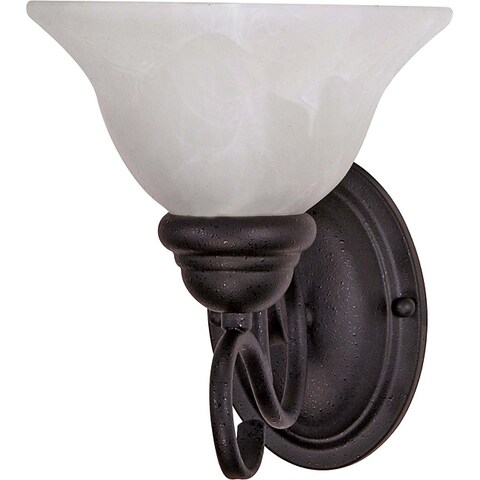 Castillo Textured Black with Alabaster Swirl 1-light Wall Fixture
