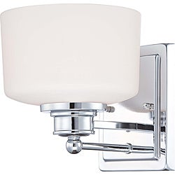 Soho Polished Chrome with Satin White Glass 1-light Vanity