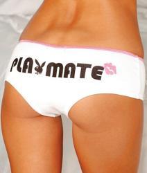 Playboy Intimates Women's Tuxedo Hipster Panties