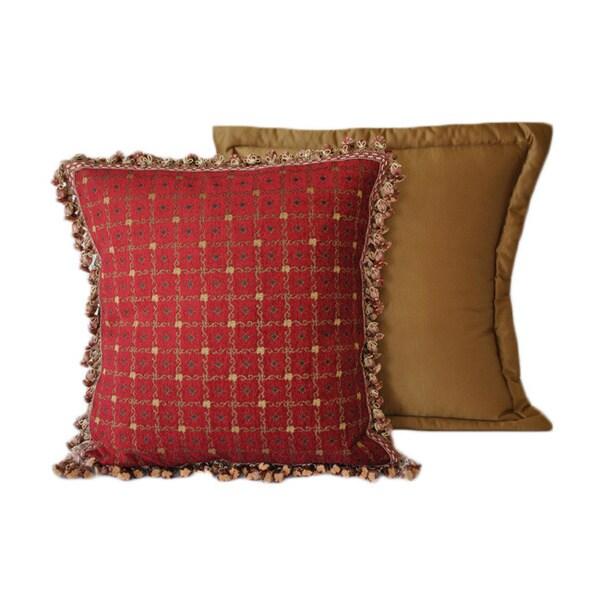 Sherry Kline China Art Red Euro Decorative Combo Pillows (Set of 2)