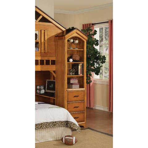 Tree House Rustic Oak Finish Book Shelf Cabinet