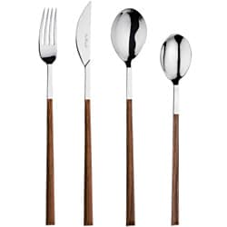 Red Vanilla Queen Sushi 24-Piece Mahogany-Resin Flatware Set