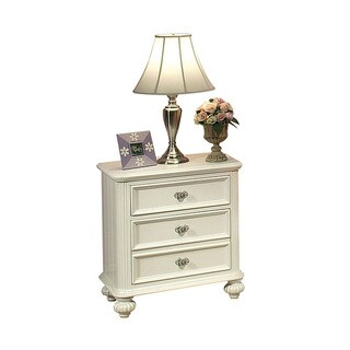 Athena White Finish Nightstand