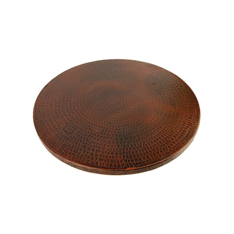 "Handmade 18"" Premier Copper Products Copper Lazy Susan (Mexico)"