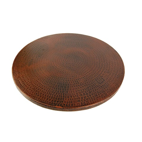 "Handmade 20"" Premier Copper Products Hammered Copper Lazy Susan (Mexico)"