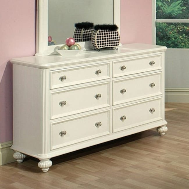 Athena White Finish Dresser